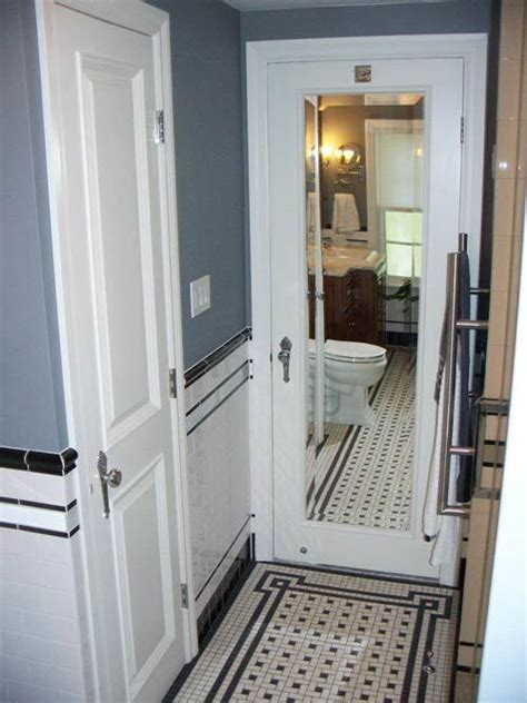 Bathroom Mirror Doors Chris Black And White Bathroom Remodel Amazing Attention To Detail And All Diy Black And