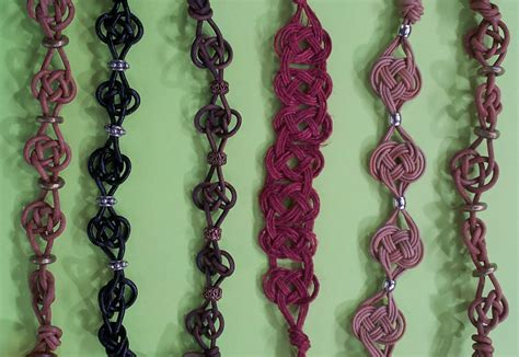 Types Of Macrame - celtic knot bracelet tutorial the tamara