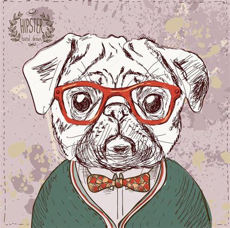 imagenes hipster retro vintage illustration of hipster pug dog stock vector