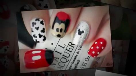imagenes de uñas pintadas faciles y bonitas 2014 fotos de decoraciones de u 241 as de mickey mouse youtube