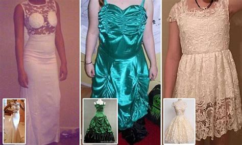 Brides show their knock off wedding dresses that look
