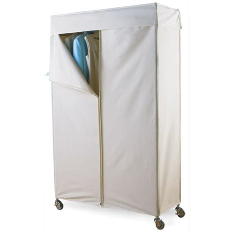 Enclosed Garment Rack by Intermetro 174 Garment Rack With Cotton Canvas Cover The