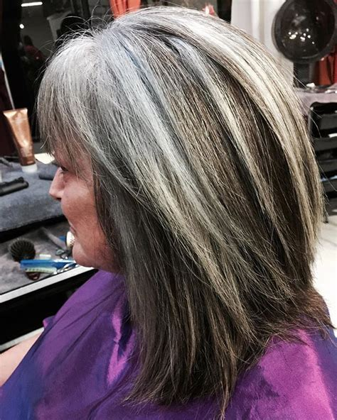 blend highlights into salt and pepper hair the 25 best gray hair transition ideas on pinterest