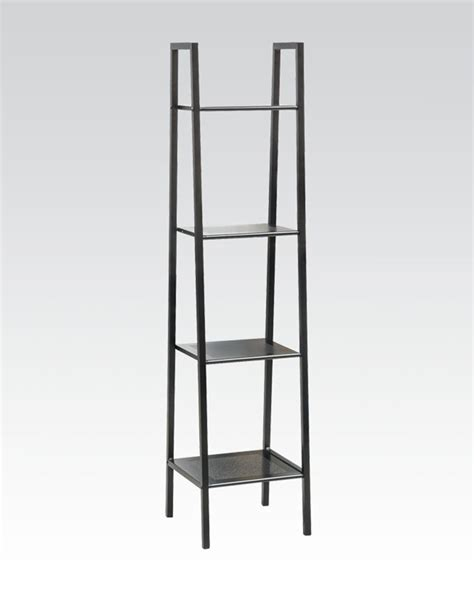 metal shelf in black by acme furniture ac92157