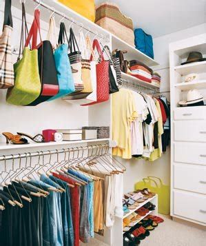 how to organize a small closet with lots of clothes inspirational closets real simple