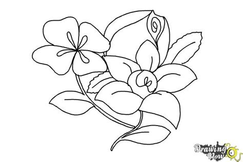 doodle flowers how to how to draw flowers step by step drawingnow
