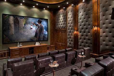 home movie theatre decor 11 trendy rooms with tufted wall panels