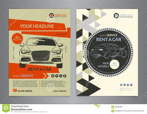 Car Brochure Template by Rent A Car Business Flyer Template Auto Service Brochure