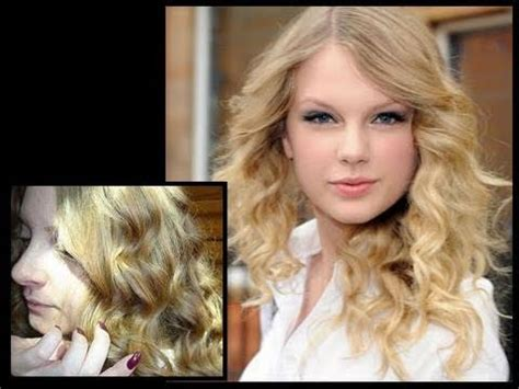 taylor swift short hair tutorial taylor swift curly hair tutorial natural looking waves