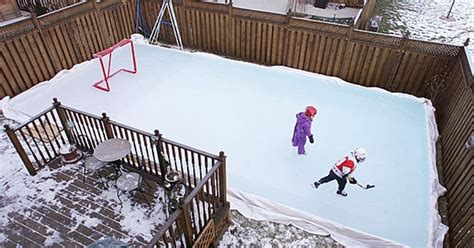How To Build A Backyard Hockey Rink Like A Pro Men S Journal How To Make Rink In Backyard