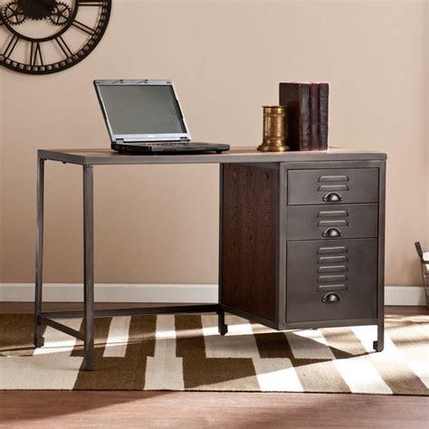rustic home office desks blvd priscilla wood metal file desk by blvd