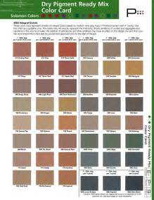 cement color mix solomon colors chart sted concrete supplies