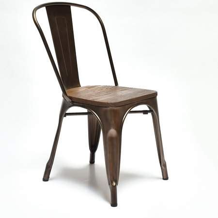 Metal And Wood Dining Chairs Metal Philia Dining Chair With Wood Seat Rentals Chair Rentals