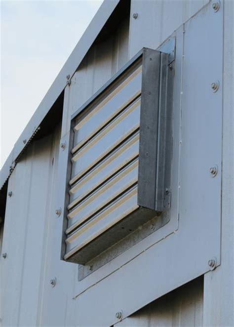 suncourt 8 in hardwired through wall fan building my steel garage