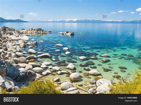 beautiful boulders and crystal clear water of the lake tahoe hidden beach lake tahoe nevada