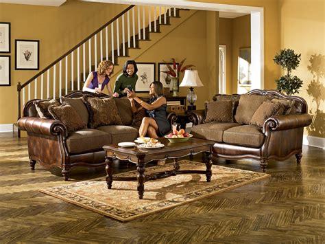 claremore antique living room set signature design by ashley claremore antique traditional