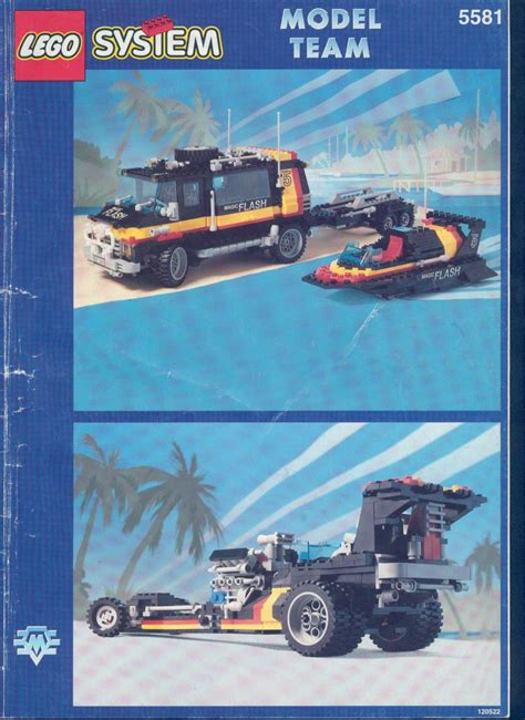 how to build a lego boat and trailer rally van and boat with trailer 5581 lego