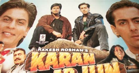 biography of film karan arjun karan arjun movie hits dialogues lyrics sharukh khan