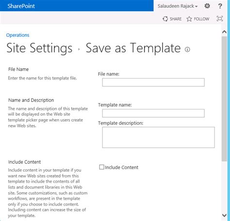 sharepoint save as template save site as template option missing in sharepoint 2013