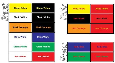 best color combinations for websites how to design your website for visually impaired users