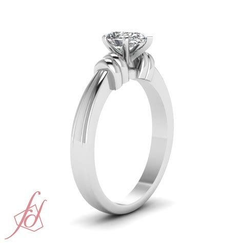 1 2 carat pear shaped solitaire bar design