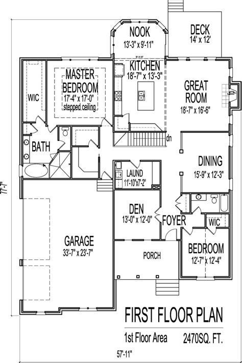 one floor house plans with basement one story house plans 2500 sq ft