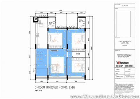 interior design electrical layout yishun 5 room hdb renovation by interior designer ben ng
