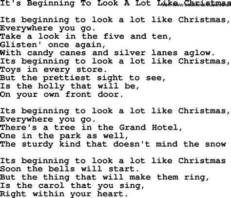 its beginning to look a lot like christmas chords catholic hymns song it s beginning to look a lot like