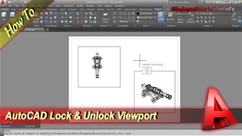 tutorial autocad viewports autocad lock and unlock viewport youtube