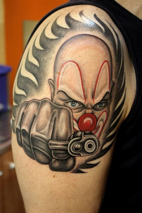 gangster tattoo design gangster clown design