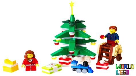 lego christmas poly set 40058 decorating the tree with