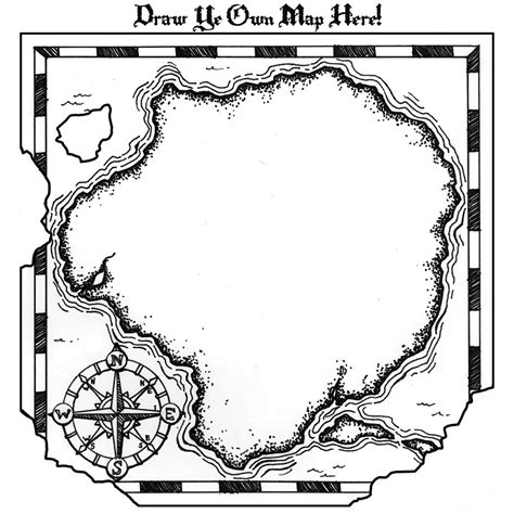 coloring page treasure map free coloring pages of outline of treasure chest