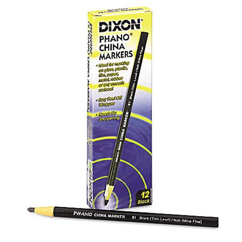 Dixon Phano China Marker dixon phano china marker black by office depot officemax