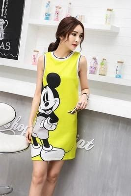 Dress Casual Mickey Mouse mickey mouse printing casual dresses 2016 summer the new fashion o neck sleeveless