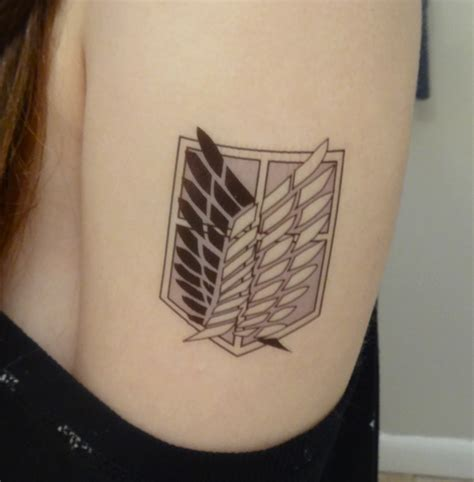 wings of freedom tattoo survey corp attack on titan search