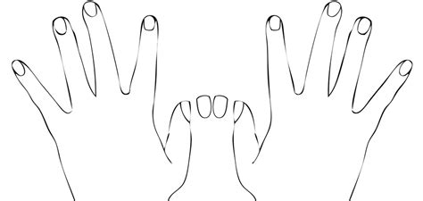 coloring pages of hands with nails best photos of two hands template hand outline coloring