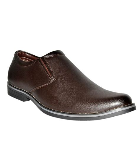 leather chief brown formal shoes price in india buy