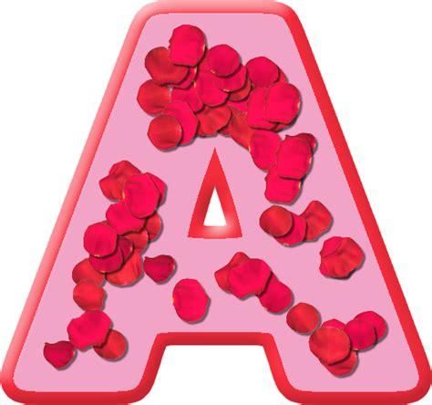 Letter A Presentation Alphabets Petals Letter A