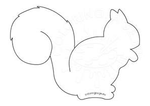 squirrel template squirrel silhouette printable coloring page