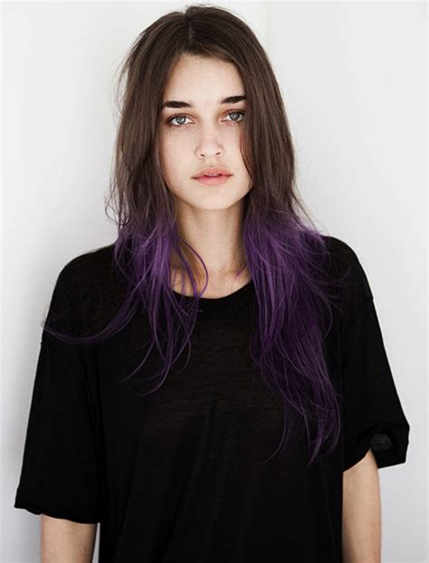 What Purple Hair Dip Dyed With Black Looks Like | photo by haley my hair style and brown hair