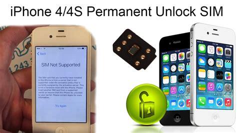 iphone unlock iphone 4 4s permanent network unlock sim instant iphone unlock