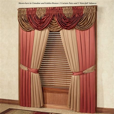 waterfall curtain valance color classics r window treatments
