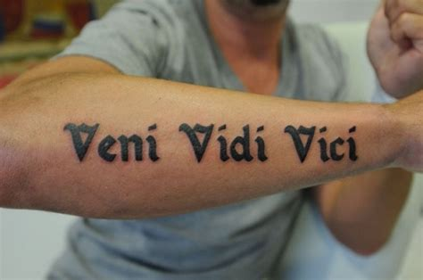 veni vidi vici tattoos 30 most popular quotes in best 2015