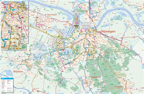 netherlands map and cities nijmegen transport map
