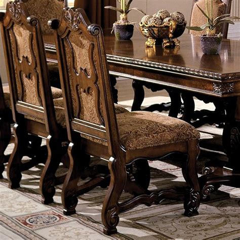 set of 2 formal dining neo renaissance traditional formal dining upholstered side chair set of 2