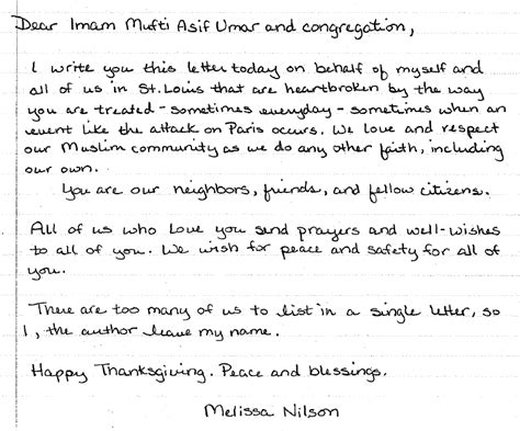 Islamic Credit Letter local muslim reports threats increased