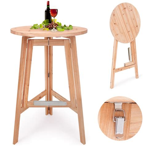 Wood Bistro Table High Table Folding Bistro Table Foldable Bar Table Wooden High Garden Table Ebay