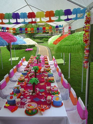 hawaiian themed decorations ideas hawaii themed birthday violetblush eventz designz