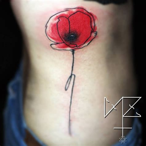 watercolor poppy tattoo 34 watercolor poppy tattoos