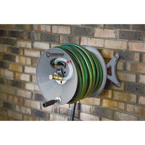 Wall Mount Garden Hose Reel Strongway 46434 Wall Mount Garden Hose Reel Myreels